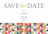 Pixel Pattern Save the Date